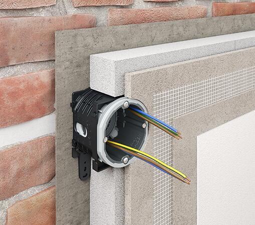 Verbindungsstutzen installationssysteme f r ged mmte innenw nde unterputz elektro - Feuchte innenwande ...