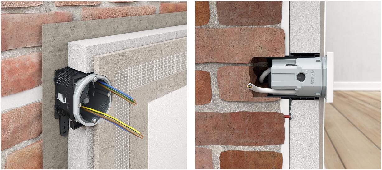 verbindungsstutzen installationssysteme f r ged mmte innenw nde unterputz elektro. Black Bedroom Furniture Sets. Home Design Ideas