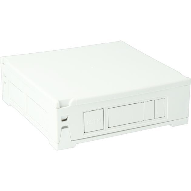 Steckbar Gehäuse PD, unbestückt, M20, GST18/WINSTA MIDI 3/4/5-pol, BST14, 120x120x40 mm, lichtgrau