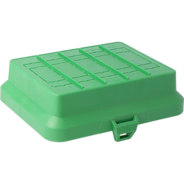 Steckbar Frontteil AK2, unbestückt, grün, für 5x 3/4/5-polig GST18 / WINSTA MIDI, 125x100x36 mm
