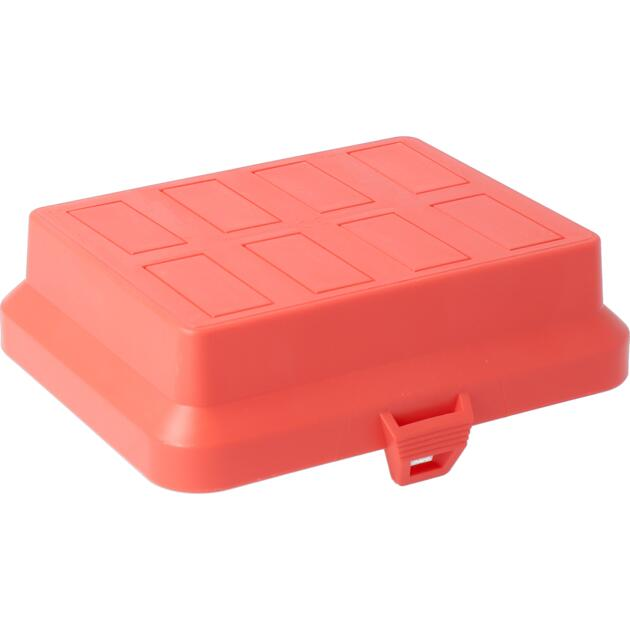 Steckbar Frontteil AK2, unbestückt, rot, für 8x 3-polig GST18 / WINSTA MIDI, 125x100x36 mm