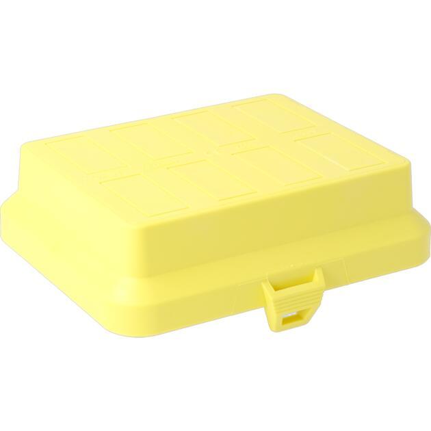 Steckbar Frontteil AK2, unbestückt, gelb, für 8x 3-polig GST18 / WINSTA MIDI, 125x100x36 mm