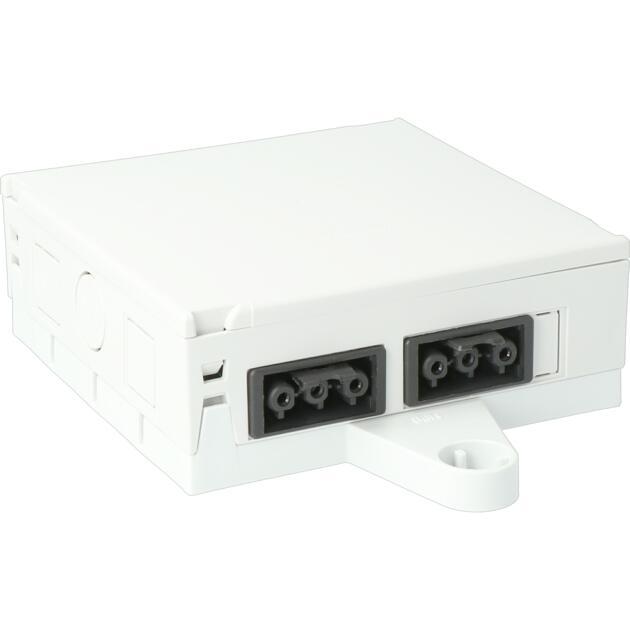 Steckbar 100% Gehäuse Multi-PD, Wieland gesis® CLASSIC, in: 2x 3pol H07V-U, out: 4x 3pol sw, 120x120x45 mm, lichtgrau