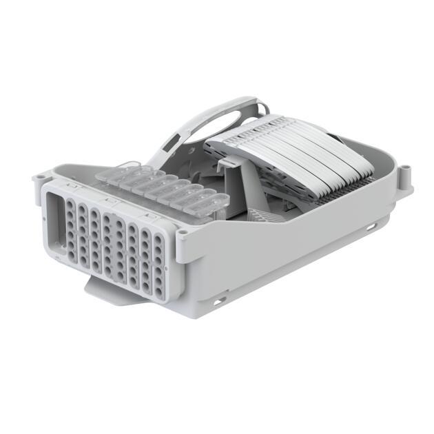 Splice distributor box FMP, 192 fibres, CSP, 48 outlets, loop