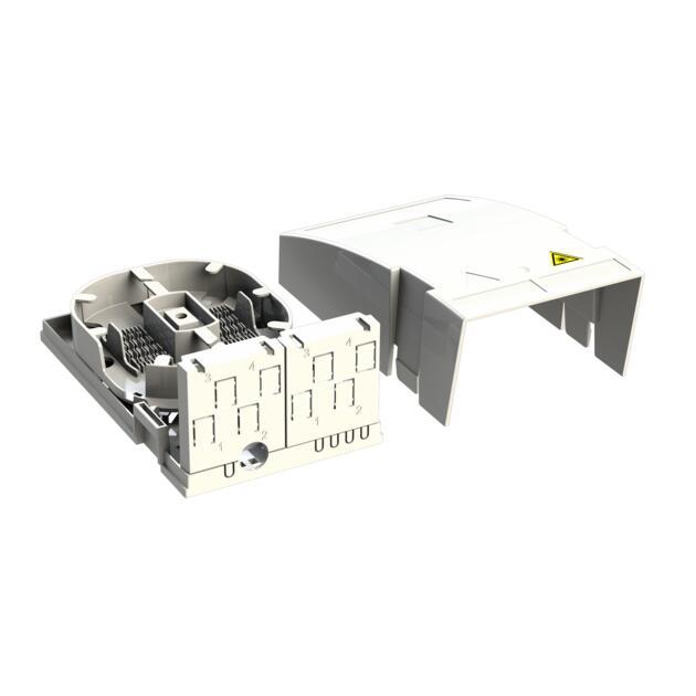 Hausübergabepunkt HÜP, 6 Fasern, 3 LC/APC DX, Shutter