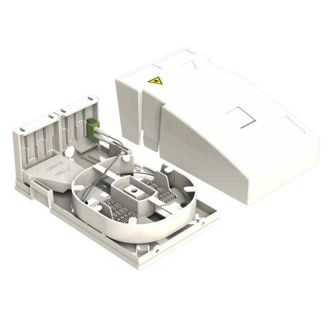 Hausübergabepunkt HÜP, 2 Fasern, 1 LC/APC DX, spleißfertig