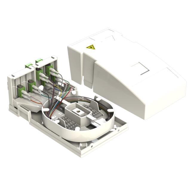 Hausübergabepunkt HÜP, 12 Fasern, 6 LC/APC DX, spleißfertig