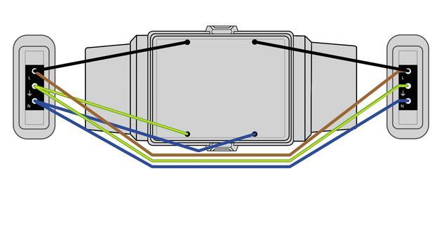 Steckbar 100% Gehäuse AK2, 4x Schuko, in: 3pol sw WAGO WINSTA, inkl. Montageplatte gewinkelt