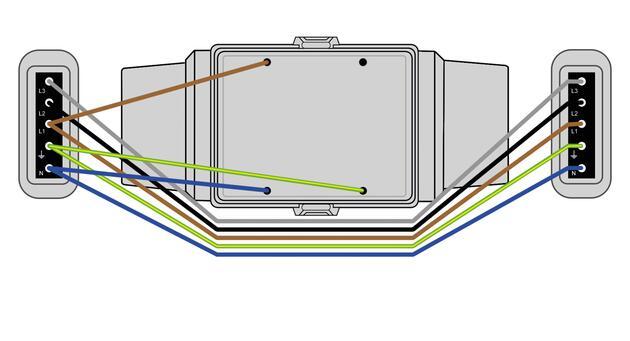 Steckbar 100% Gehäuse AK2, 2x Schuko, in: 5pol sw WAGO WINSTA, inkl. Montageplatte gewinkelt