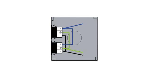 Steckbar Gehäuse PD, WAGO WINSTA® MIDI, in: 3pol H07V-U, out:2x 3pol sw, 120x120x40 mm, lichtgrau