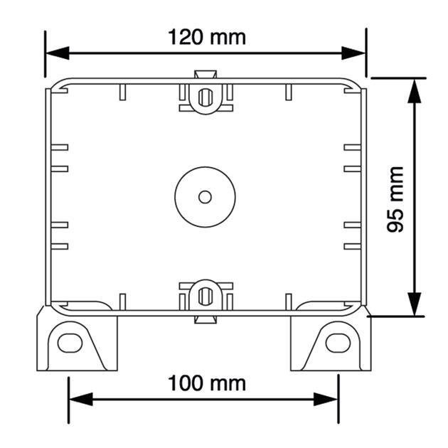 Steckbar Basis AK2, Schiebeeinf. 8-14 mm, Montageplatte für Kabelrinne, gerade, 120x95x40 mm, lichtgrau