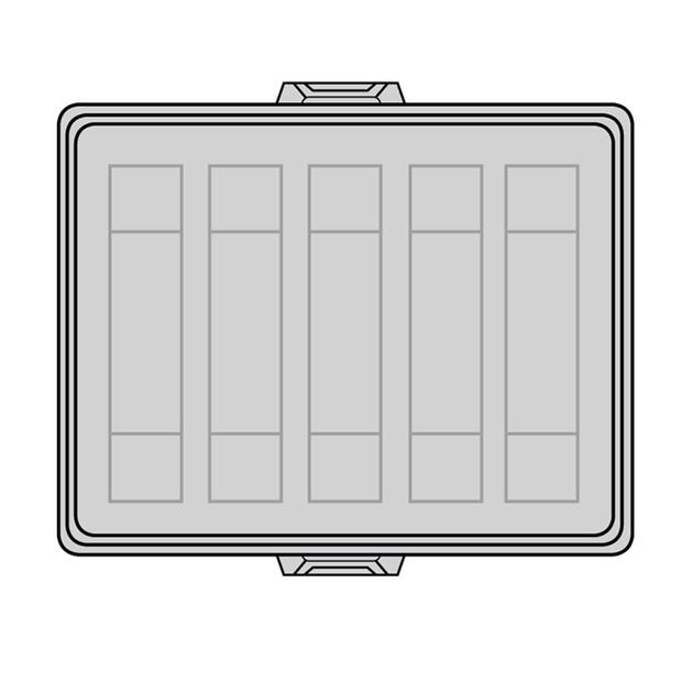 Steckbar Frontteil AK2, unbestückt, rot, für 5x 3/4/5-polig GST18 / WINSTA MIDI, 125x100x36 mm