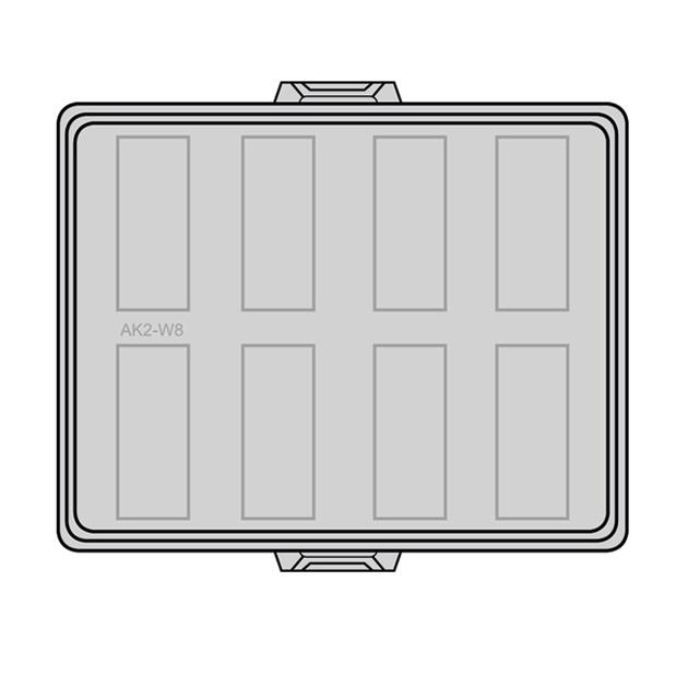 Steckbar Frontteil AK2, unbestückt, grau, für 8x 3-polig GST18 / WINSTA MIDI, 125x100x36 mm