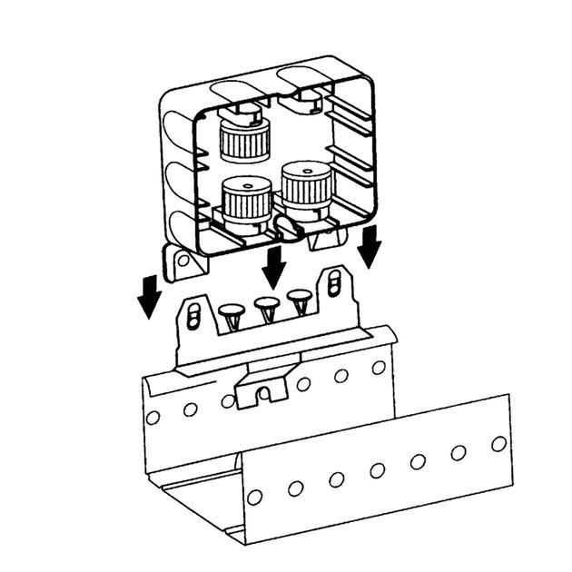 Steckbar Zubehör AK2, Montageplatte, für Kabelrinne, gerade,
