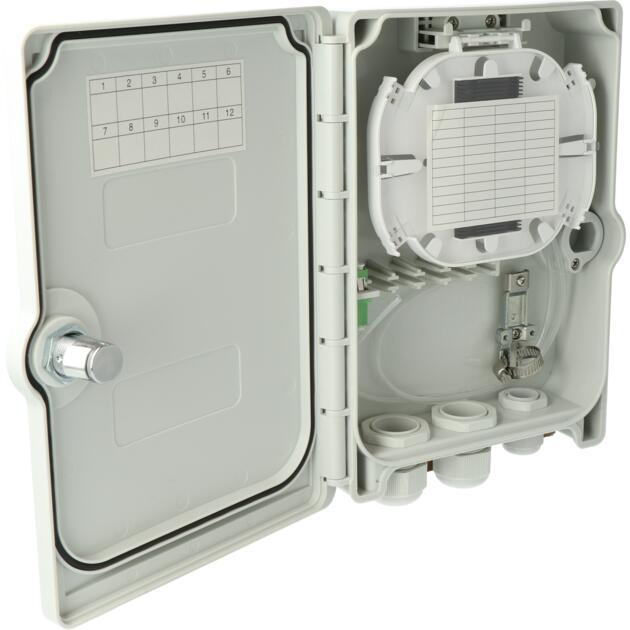 Kompakt Gebäudeverteiler, Gf-GV, 4 Fasern, CSS, 1 LC/APC QD, IP55
