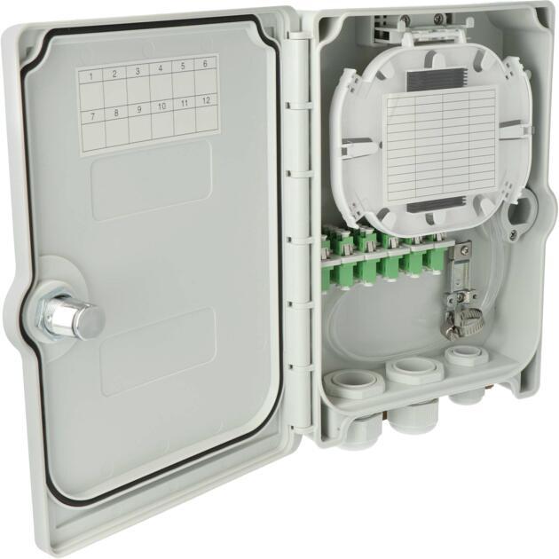 Kompakt Gebäudeverteiler, Gf-GV, 24 Fasern, ANT, 6 LC/APC QD, IP55