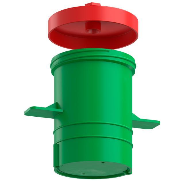 Plattendecken-Dose für nachträglichen Einbau 100 mm