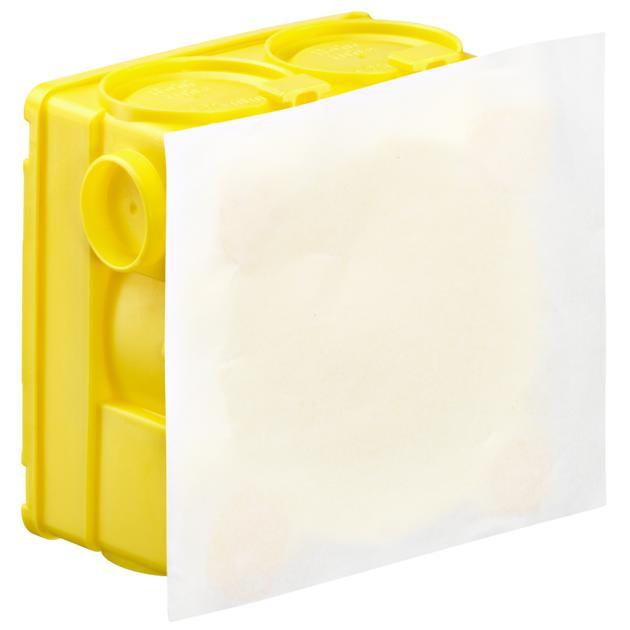 Geräte-Verbindungsdose ohne Putzhaut mit Spezial-Haftkleber