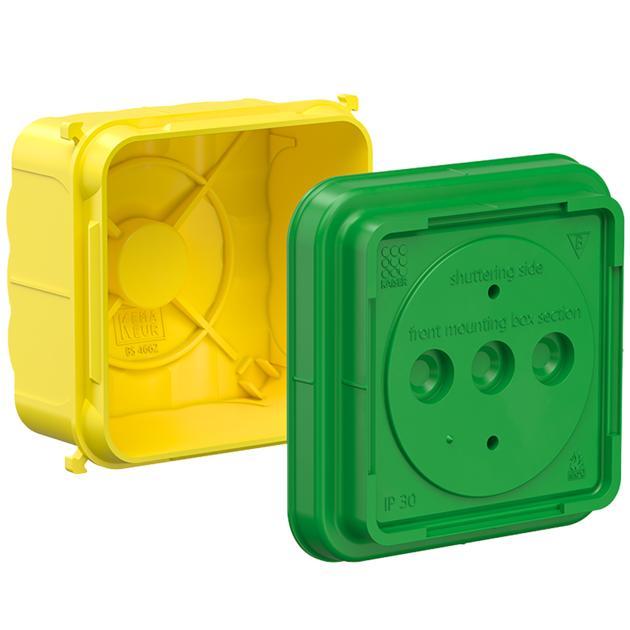 Gerätedose für britische Geräteeinsätze 1-gang