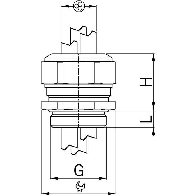 Kabelverschraubungen Progress® Messing für mehrere Kabel