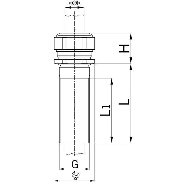 Kabelverschraubungen Progress® Messing mit speziellem Anschlussgewinde