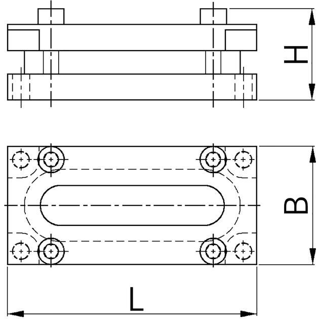 Universal cable entry for flat and round cables