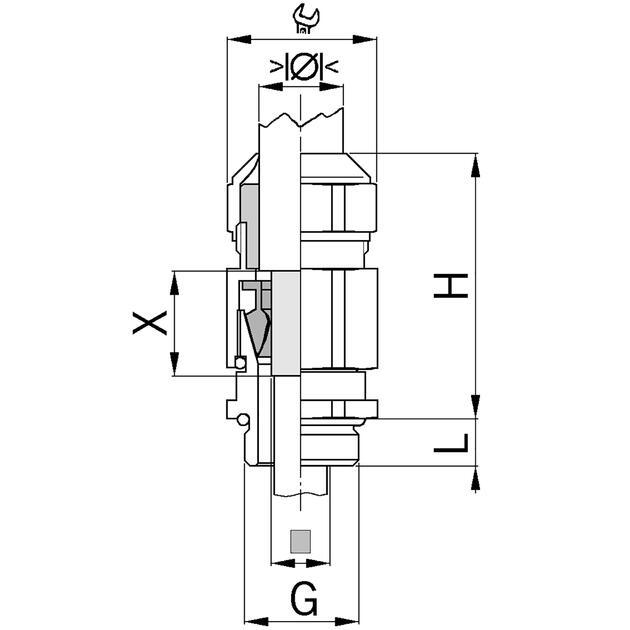 Kabelverschraubungen Progress® EMV Serie 85 Messing mit Spannzange