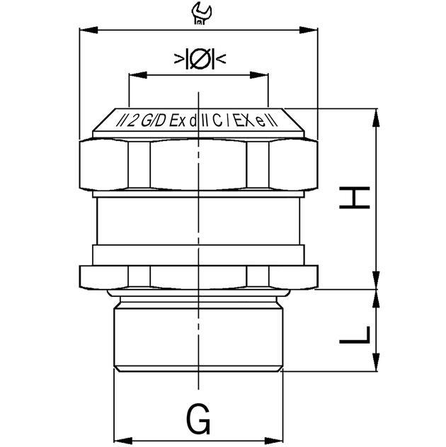 AGRO Kabelverschraubungen Ex Compact Messing Ex d IIC und Ex e II