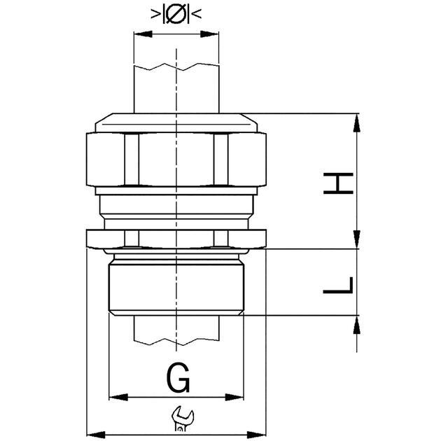 AGRO Kabelverschraubungen Progress® Messing erhöhte Sicherheit Ex e II