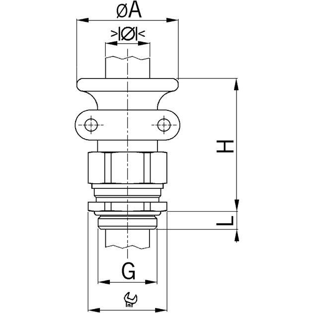 AGRO Kabelverschraubungen Progress® Messing mit Trompete und Klemmbacken erhöhte Sicherheit Ex e II