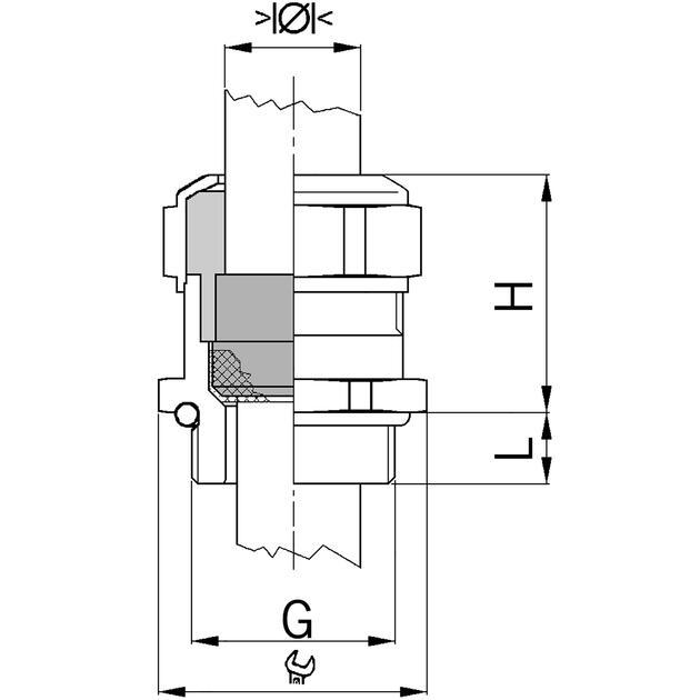 AGRO Kabelverschraubungen Progress® EMV Messing mit Kontakthülse erhöhte Sicherheit Ex e II