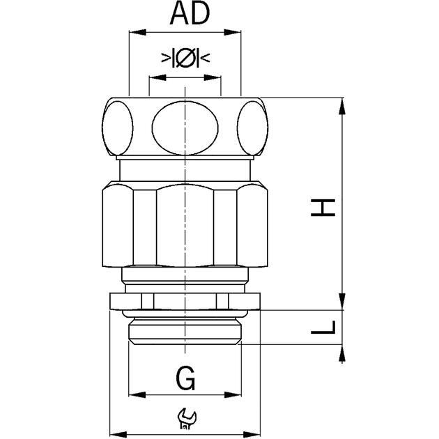 AGRO Kombi-Schlauchverschraubung Progress® Messing mit integrierter Kabelverschraubung