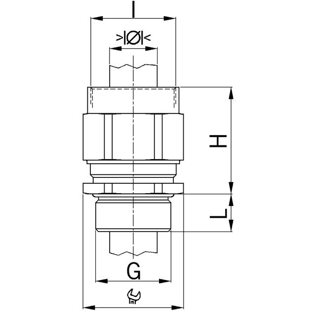 AGRO Adapter Progress® Messing mit integrierter EMV-Kabelverschraubung